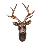 Male Deer Wall Decorated Antlers Decorated With Retro Deer Decoration Bar Clothing Store Decorations Ornaments Bucks Figure Sculpture Simulation Wall Decoration Wall Hanning 40*34*18 CM