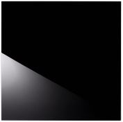 Alfa and 5902027026283 Glass Panel, Glass Black, 60 X 60 CM