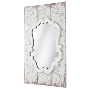 montemaggi aml104 Vintage Panel with Frame and Mirror Shaped, Wood, Ivory, 48 x 3 x 80 cm