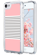 iPod 5 Case, ULAK CLEAR SLIM iPod Touch 6 Case Soft Flexible Thin Gel TPU Skin Scratch-proof Transparent Case Cover for Apple iPod Touch 5/6th Generation - Minimal Stripes Rose Gold