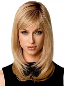 Beauty Smooth Hair Fashion Stylish Long Ginger Blonde Straight Hair Wigs for Women LC51
