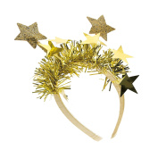 GIZZY® Ladies, Girls Gold Star Design Glitter and Tinsel Head Band.