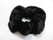 Classic Large Velvet Hair Scrunchy / Ponio band NEW-Available in Black,Grey,Navy Blue,Bright Red,Crimson Red,Burgundy,Purple,Dark Green. (Black) by Top Brand