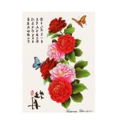 Temporary Tattoos, OverDose Make Up Dreamcatcher & Flowers Tattoo Paper Fake Tatoo Waterproof Body Stickers