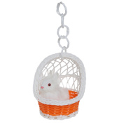 Albeey Animal Simulation Toy in Hanging Basket, Basket Random Colour