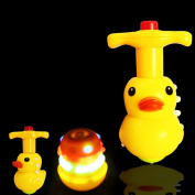 Flashing Spinning Top Toy Cute Music Gyroscope Cute Cartoon Duck Peg-Top Dazzling Gyro Toys Gift for Kids