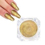 NXDWJ Golden Powder Nail Art Chrome Pigment Mermaid Powder Dust Fairy Dust Manicure Nail Powder