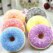 Toamen Newest Colourful Doughnut Squishies Toy Slow Rising Relieves Stress Soft Toy for Children and Adult Toy gift, Random Colour