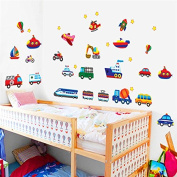 Stickers Car Plane Train Transport for Children's Bedrooms Babies Rooms Of Open Buy Games