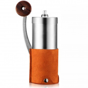 Manual Ceramic Coffee Grinder Mini Portable Household Grinder For Travel Or Camping,Orange