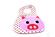 Himollthe Plthestic Infthent Bib Wtheterproof Btheby 0-6 yethers Feeding Cthere-Pig