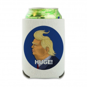 Huge! Donald Trump Caricature with Wind Blowing Hair Funny Can Cooler - Drink Sleeve Hugger Collapsible Insulator - Beverage Insulated Holder