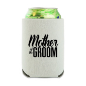 Mother of the Groom Wedding Can Cooler - Drink Sleeve Hugger Collapsible Insulator - Beverage Insulated Holder