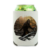 Bigfoot Sasquatch Walking in the Woods Can Cooler - Drink Sleeve Hugger Collapsible Insulator - Beverage Insulated Holder