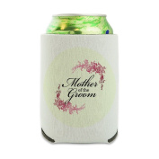 Wedding Floral Mother of the Groom Can Cooler - Drink Sleeve Hugger Collapsible Insulator - Beverage Insulated Holder