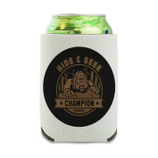 Hide and Seek Champion Bigfoot Sasquatch Funny Can Cooler - Drink Sleeve Hugger Collapsible Insulator - Beverage Insulated Holder