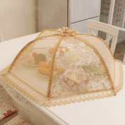 80cm Round Dish Cover Folding Home Cover Food Cover Food Cover Fruit Cover Dining Table Cover Anti Flies