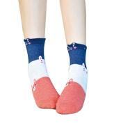 Women Cute Cartoon Socks ,TianranRT Casual Animal Pattern Novelty Funny Animal Ears Muticolor Cotton Warm Soft Girls Sox Cat Footprints Socks Floor