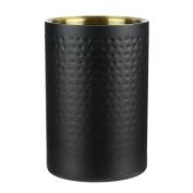 Saveur et Degustation kv7220 rafraichisseur Bottle, Hammered Effect Stainless Steel, Black, 12 x 12 x 7 cm