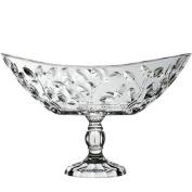 WENZHE Fruit plate Rack Dish Bowl Glass Crystal Multifunction Home, 216 * 340mm fruit holder