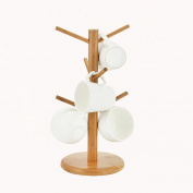 WENZHE Kitchen Storage Rack Spice Cooker Shelf Cup Holder Drain Shelf Bamboo Detachable, 35 * 16.5cm