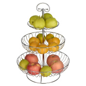 WENZHE Fruit plate Rack Dish Bowl Portable Multifunction, 3 Layers, 4 Colours, 460 * 200mm fruit holder