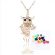 FlowerKui Owl Perfume Essential Oil Diffuser Pendant Necklace