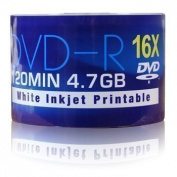 Vision Media X 50 Aone DVD-r 4.7GB (16x) Full Face Inkjet Printable 120Min