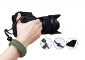 PROWITHLIN Universal Braided Para cord Adjustable Camera Wrist Strap for DSLR SLR CANNON NIKON etc