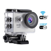 SENDOW Action Camera WiFi 1080P 12MP Full HD Waterproof Sport Camera 30M(IP68) Diving With 170°Wide-angle, Motorbike Head Camera Skiing Cam ,Including Full Accessories Kits