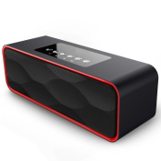 Bluetooth Speakers,XPLUS Portable Travel Wireless Stereo Strong Enhanced Bass Bluetooth Speaker FM Radio MP3 Player,10 Play Hour 2200mAh Battery, Hands-Free Calling Built-In Microphone, Micro TF SD Card, USB Input, AUX Line-In,works with iPhone, iPad, ..