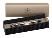 Parker S0723480 Vector Fountain Pen, Fine Nib, Gift Box - Stainless with Stainless Steel Trim