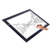 LED Copy Board, M.Way A2/A3/A4 Super Thin LED Drawing Copy Tracing Light Box Track Light with Brightness Adjustable Tattoo Sketch Architecture Calligraphy Crafts For Artists,Drawing, Sketching A2