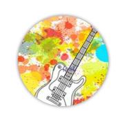 Perfect Design Music Women Circle Fridge Magnet Made By Mdf