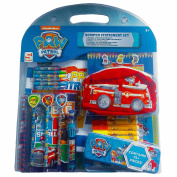 Paw Patrol Bumper Stationery Set 75+ Piece Children's Art Kit with Colouring Drawing Pencils Markers Crayons - Blue