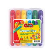 Dong-A Soft-type Premium Crayon Cream Pas 6 Colour Pencil Toy Craft Watercolour