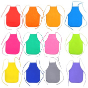 24 Pcs Non-woven Fabric Children Painting Aprons for Kitchen, Classroom, Painting Activity.