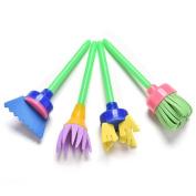 CHIC*MALL 4 Pcs Children Painting Sponge Brush DIY Drawing Toys Tools