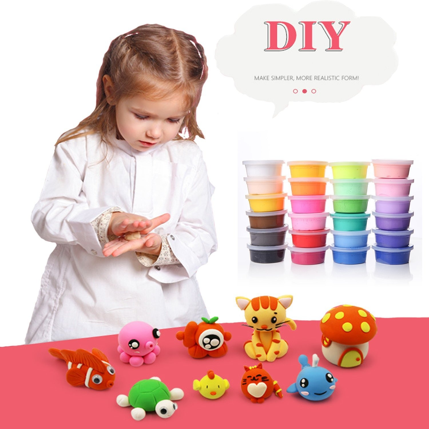 Fluffy Slime Making Kit Kids Toys Children Party Games Educational Toys  Clear Slime Kit Magic DIY Modelling Jelly Clay Mud Toy (12 Colour Slime  Making