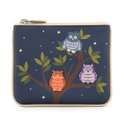 Y by Yoshi Having a Hoot Zip Top Leather Purse