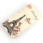 Flower Tower Pattern Women Long Purse Fcostume Clutch Wallet Bag Card Holder