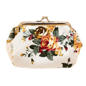 Women Lady Retro Vintage Flower Small Wallet Fcostume Hasp Purse Clutch Bag