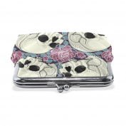 COOSUN Skulls And Roses Leather Coin Purse snap Closure Clutch Coin Wallet