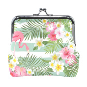 COOSUN Tropical Flamingo Leather Coin Purse snap Closure Clutch Coin Wallet