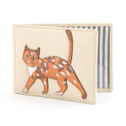 Cats Whiskers Leather Travel Card / Oyster Card Holder