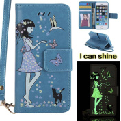 iPhone 5 / 5S / SE Case , COOSTOREEU Premium Folio Leather Wallet Case with [Kickstand] [Card Slots] [Magnetic Closure] [Luxurious Hand Strap] Flip Notebook Cover Case for iPhone 5/5S/SE, Blue