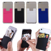 Pomineer 6 Pcs Adhesive Silicone Credit Card Pocket Money Pouch Holder Case For Cell Phone