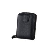 Zhi Jin 1Pc Leather Card Holder Wallet Business Coins Pocket Driver Licence Credit Name Cards Organiser Travel 13 Card Slots Black