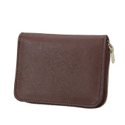 MuLier Genuine Leather RFID Blocking ID Case Coin Pouch Card Holder Wallet - Prevent Electronic Credit Card Scan Theft