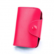 DcSpring Women's Small Genuine Leather Credit Card Holder Ladies Slim Purse Men's Mini Wallet